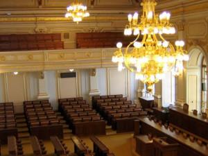 Zasedací sál Poslanecké sněmovny Parlamentu České republiky