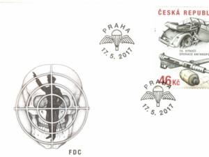Poštovní známka k výročí 75 let od operace Anthropoid