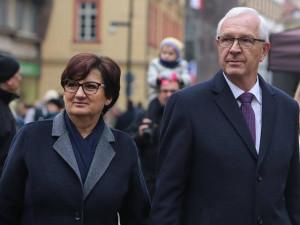 Jiří Drahoš se ženou.