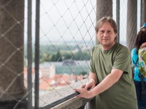 Jan Vančura ve svém království, na budějcké Černé věži.