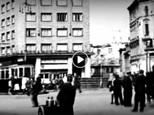 VIDEO: Lodičky na Jezírku, tramvaje před radnicí. Podívejte se na černobílý Liberec