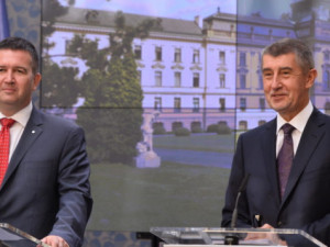 Jan Hamáček a Andrej Babiš.