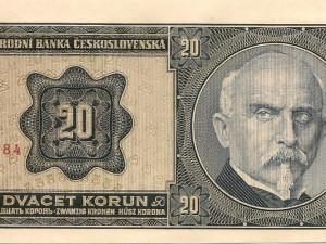 Alois Rašín na dvacetikoruně.