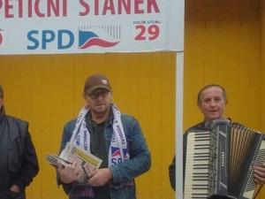 Jaromír Balda (vpravo) a SPD.