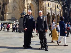 V loňském roce se sešli všichni kominíci v Praze v rámci 150 let Jednoty kominíků. Jan Doležal na snímku vlevo.
