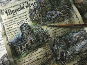 Uchvatné kresby Karolíny Wellartové jsou hlavní částí připravované knihy Přicházejí vlci.