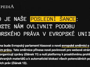 Na protest proti změně autorského práva je vypnuta Wikipedie.