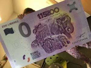 Suvenýrové eurobankovky zoo v Liberci se prodaly za 4,5 hodiny