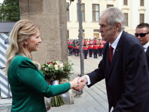 Zuzana Čaputová s Milošem Zemanem.