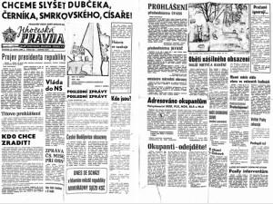 Okupanti u viaduktu mířili na lidi samopaly, psala před jedenapadesáti lety Jihočeská Pravda.