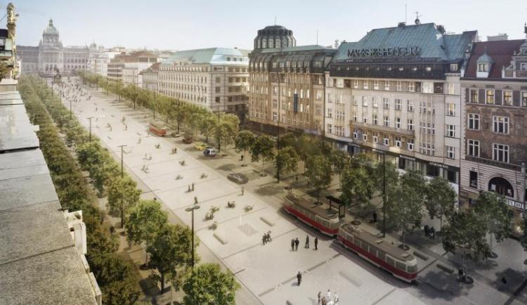VIZUALIZACE: Jak bude vypadat Václavák po rekonstrukci? Vrátí se tramvaje a přibydou stromy