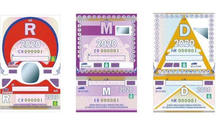 Ode dneška platí dálniční známky na rok 2020