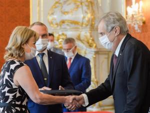 Prezident Zeman jmenoval na Hradě 33 nových soudců