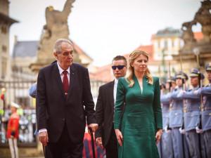 Čaputová v Praze jednala s politiky, uctila Havla i Štefánika