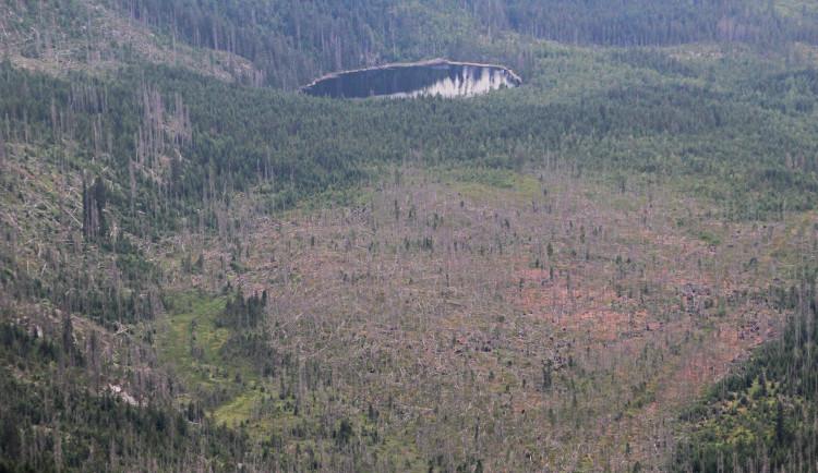 Snímky Šumavy z letadla